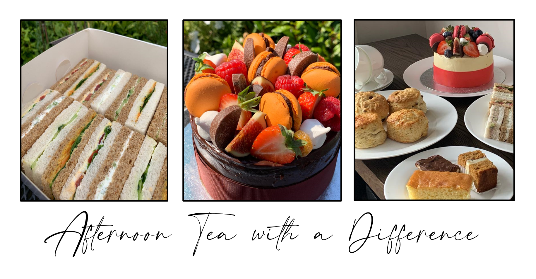 A Contemporary Selection of Afternoon Tea Delights, chosen by you, delivered and personally served on fine bone china